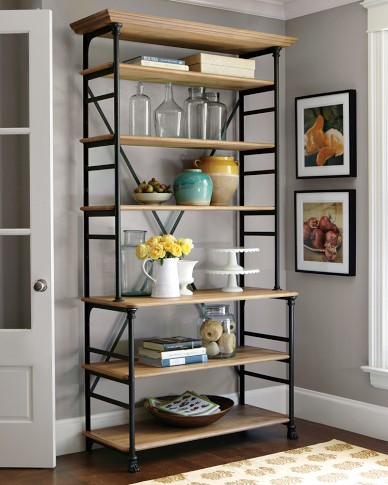 Wrought Iron Shelves Display Racks Do The Old Retro Kitchen Shelving Sideboard Storage Rack 042