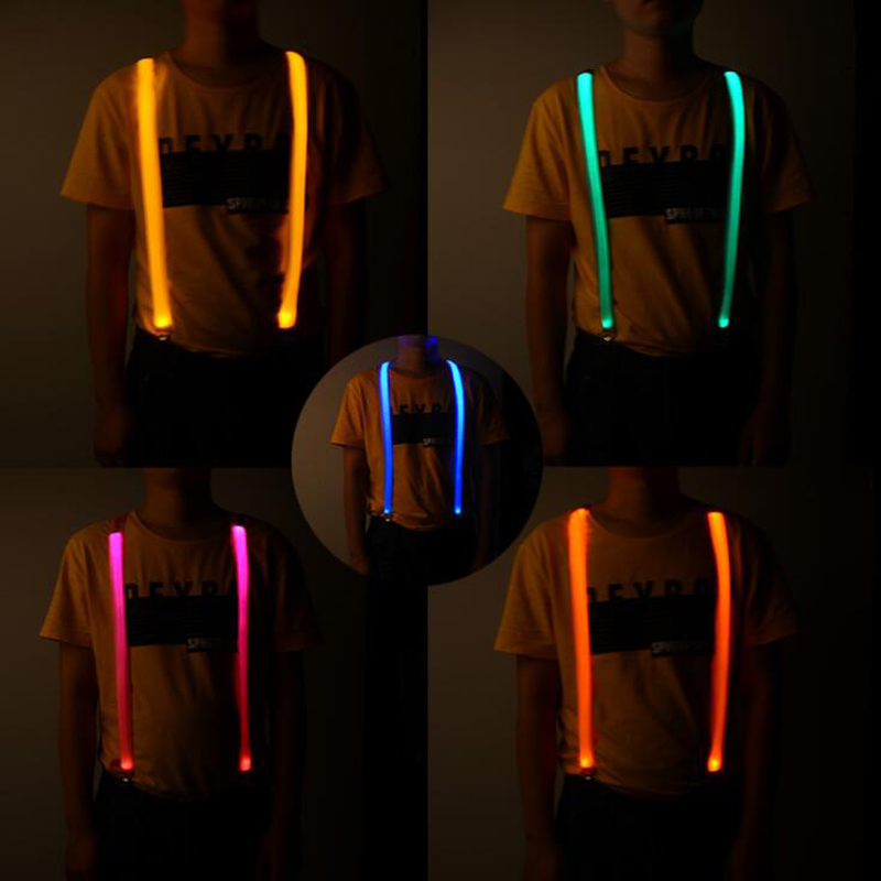 New LED Light-emitting Flash Chest Straps Lightweight Suspenders Straps