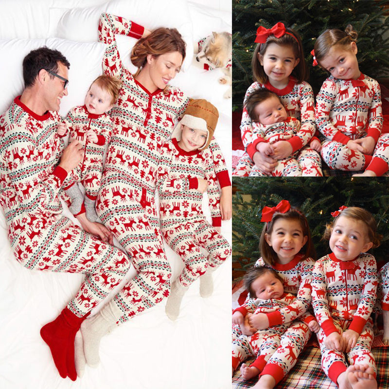 Gsch Family New Year Family Look Matching Clothes Christmas Pajamas