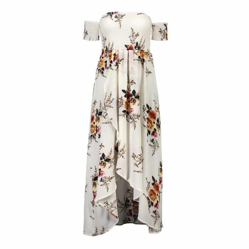 bd3e35f8fac 2018 long maxi beach summer dress women tunic boho floral dress plus size  sundress off shoulder