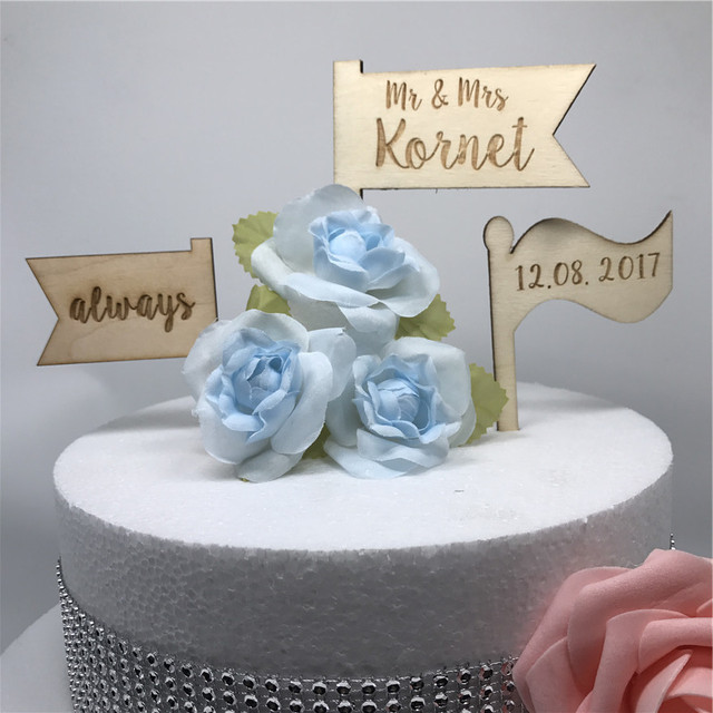 Us 949 5 Offpersonalised Wooden Llags Wedding Cake Topper Custom Name Date Wooden Cake Topper Rustic Personalized Wedding Cake Topper In Cake