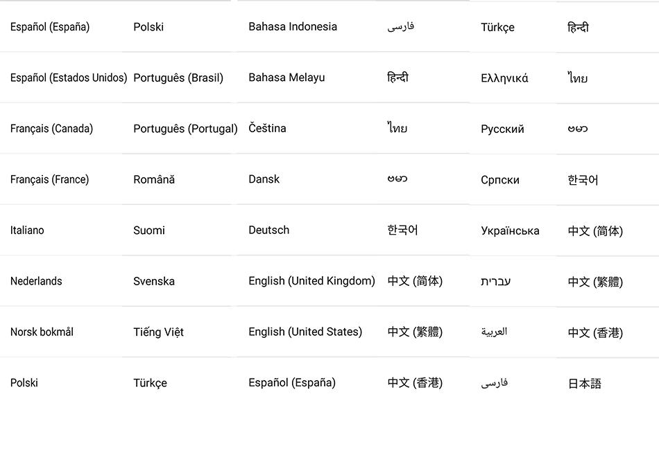 Nubia z11 borderless language