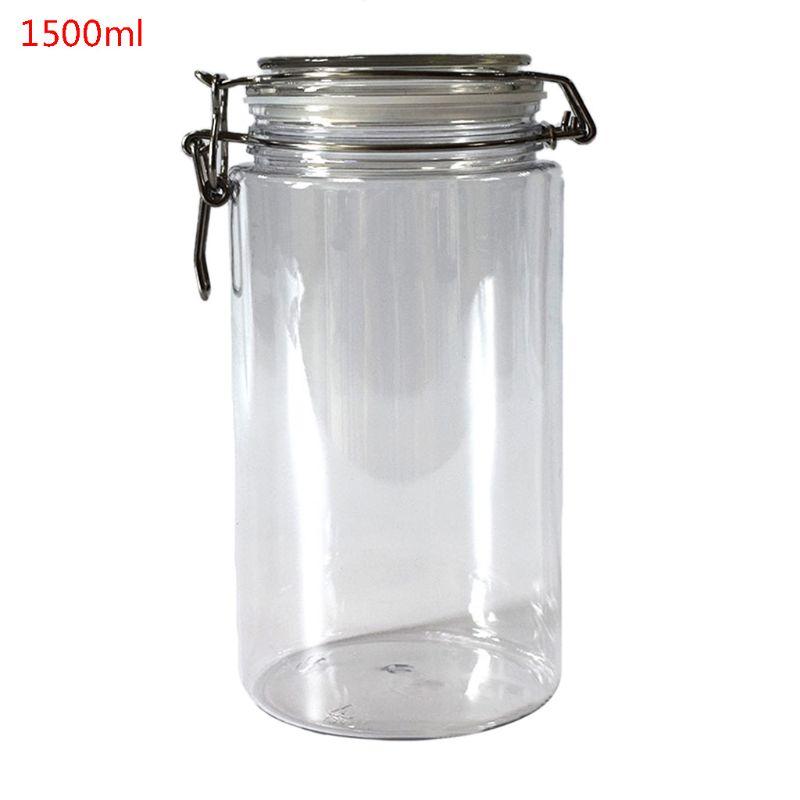 Large Square Glass Preserve Jars Airtight Clip Top Storage Jars 2-4 Litre