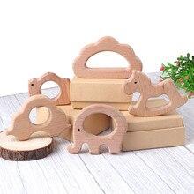 TYRY. HU 1 шт. деревянный Прорезыватель Детские Прорезыватели для зубов игрушка животное слон Шап дерево кольцо нетоксичный натуральный деревянный браслет для прорезывающихся зубов кулон