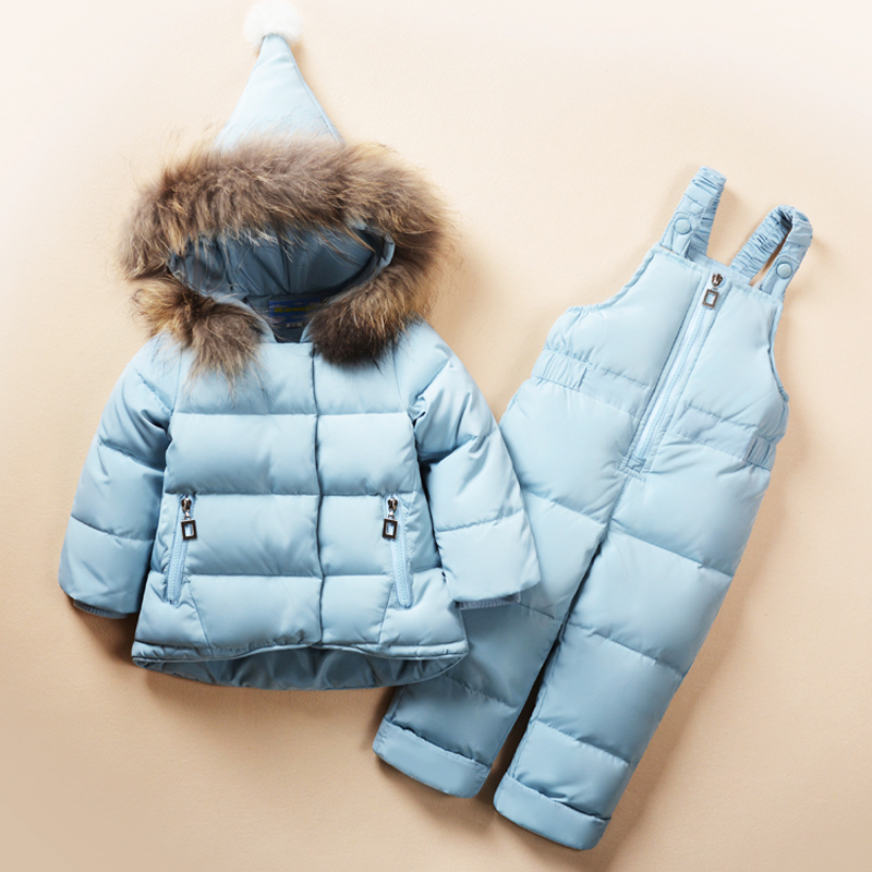 2018 New Winter children clothing sets girls Warm parka down jacket for kids clothes children's coat snow wear baby girl suit pcora down jacket for girls winter female child outwear khaki warm girl clothing size 3t 14t 2017 pink parka coat for baby girls