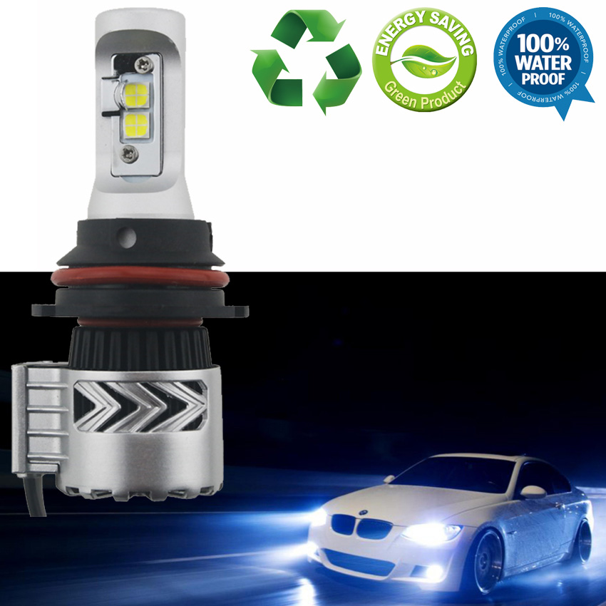 1pair 9007 CREE Chip XHP50 LED Car Headlight Bulb 72W 12000LM High Low Beam Auto Headlight Conversion Kit Fog Light White 6500K pair 6s 9004 hb1 9007 hb5 car led headlight bulb high low dual beam led kit 80w white 9000lm replace for halogen or hid bulbs