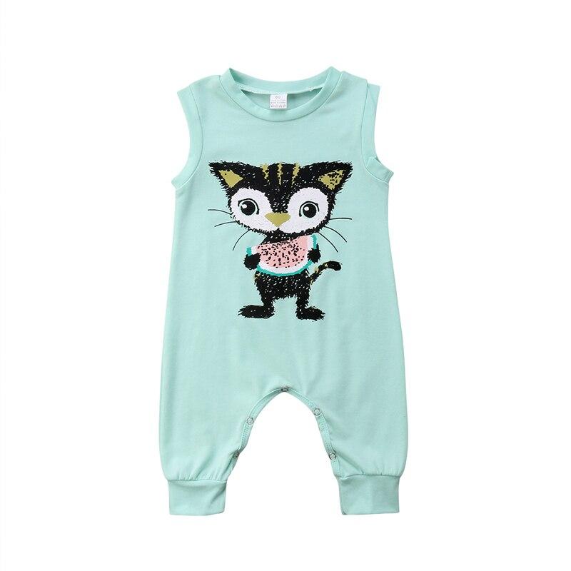 Halstücher Baby Baby Kleinkinder Cat Print Lange Ärmel Strampelanzug Kleinkind Kids Overall Bodysuit