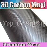 Серый Gunmetal 3D углеродного волокна виниловая пленка для автомобиля с воздушным пузырьком бесплатно, как настоящие тканые листы углерода PROT