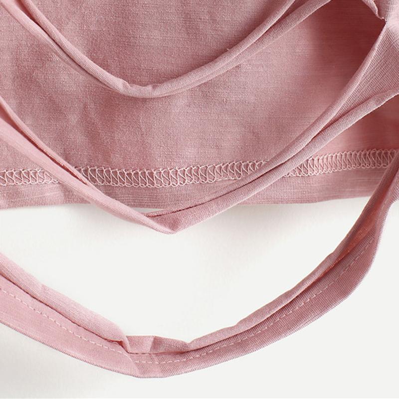 HTB12461QVXXXXcWapXXq6xXFXXXn - Pink Ladder Ripped Short Sleeve Round Neck Crop Tee PTC 334
