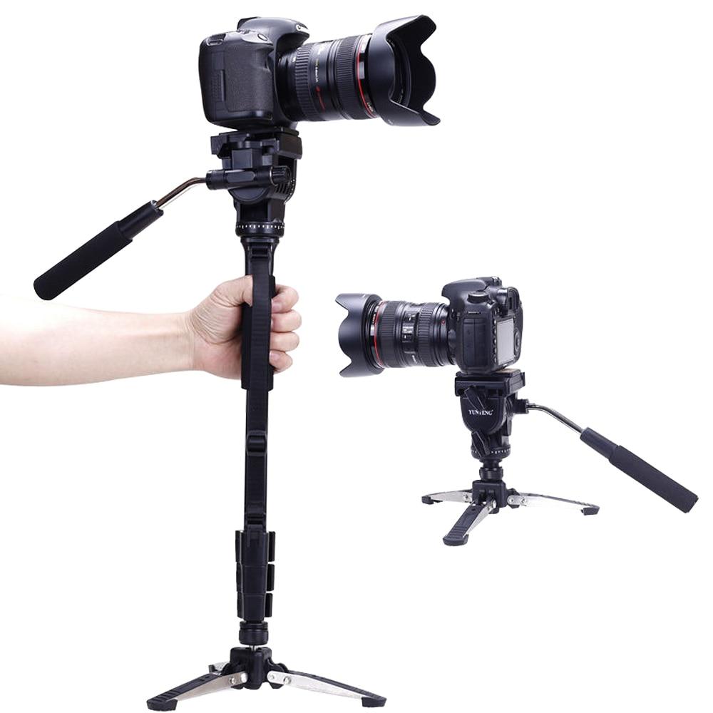 Yunteng 288 Camera Monope + Fluid Pan Cabeca + Unipod Suporte Para For Panasonic Canon Nikon SONY Pentax Olympus Samsung Camera