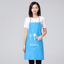 2018 Hot Sale Adjustable Print Pattern Apron Kitchen Cook Apron With Pockets Polyester Halter With Spoons Forks For Man Woman