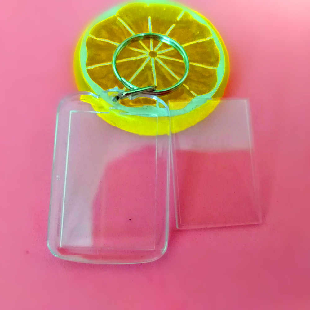 1 Pcs Mini Octagon Shaped DIY Acrylic Blank Picture Frame Keychains Transparent Blank Insert Photo Keychains