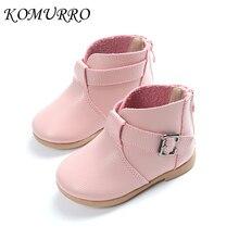 Детская обувь, кожаные сапоги для девочек, весенние новые ботильоны принцессы на молнии, модная весенняя обувь для маленьких девочек, детская обувь для девочек