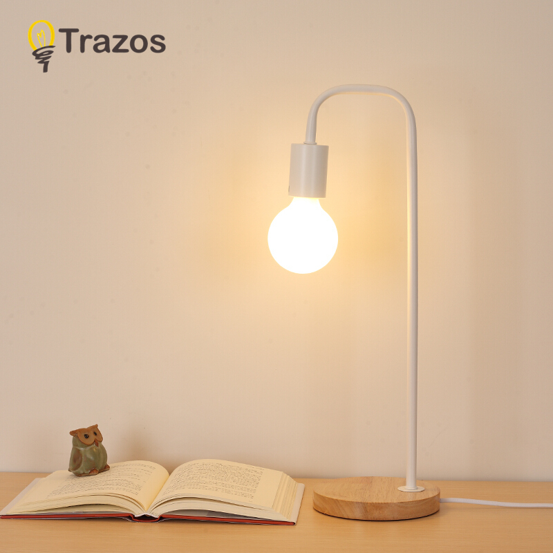 modern art decoration desk lamp e27 holder solid wooden table lamps for decorate nature style eu plug ac85 265v desk night light Modern Table Lamp Wooden Base Book Lights Desk Night Light E27 Holder Mini Retro Bedside Lamp La Lamparas For Home Bedroom Decor
