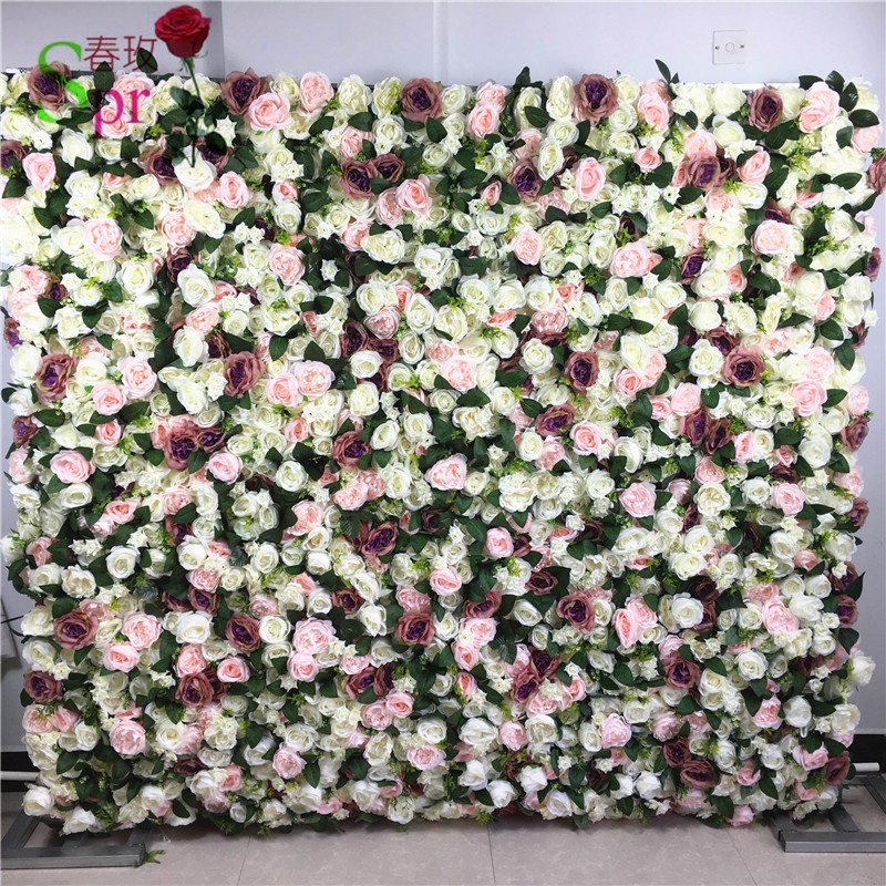 Us 265 0 Spr 19311 1 Free Shipping Magic 3d Flower Wall Wedding Backdrop Artificial Flower Row And Arch Decorative Flore In Artificial Dried