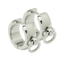 stainless steel fashion earrings hinged Piercing ring men women earring ring unisex earring hoops circle O rings