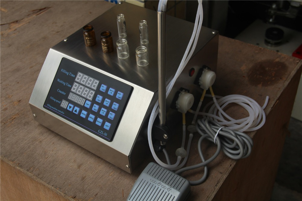 hot sale two heads digital control liquid filling equipment for small business peristaltic pump filling machine 0.2-100ml/min food grade small volume peristaltic pump intelligent numerical control liquid filling machine gr1 6b