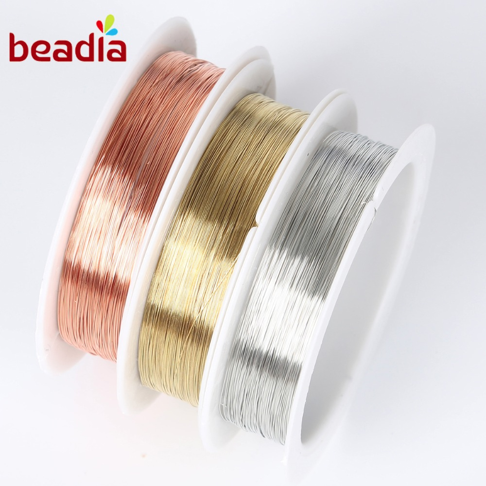 0.2-1mm Silver Gold Soft Copper Wire DIY Handmade Earrings Jewelry-Accessory