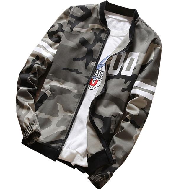 db08e6e214bab Loldeal Camouflage Jacket Coat Men 2018 Spring Men's Clothes Fashion Bomber  Man Style Baseball Male Windbreaker Jackets Coat