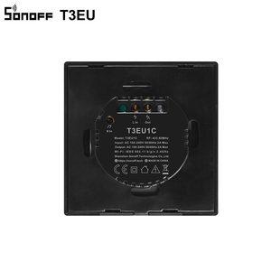 Image 5 - SONOFF T3EU TX Wifi Intelligente Della Parete di Tocco Interruttore Nero Con Bordo Smart Home, Casa Intelligente 1/2/3 Gang 433 RF /Voice/APP di Controllo Funziona Con Alexa