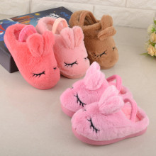 Children's cotton slippers shoes winter girls boys baby home slippers kids cute rabbit anti-slip warm indoor slippers velvet