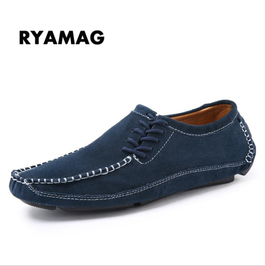 2018 Shoes Man's Fashion Loafers 100% Genuine leather Flat shoes Slip On man's Flats Shoes Moccasins Casual loafers size 38-47 cyabmoz 2017 flats new arrival brand casual shoes men genuine leather loafers shoes comfortable handmade moccasins shoes oxfords
