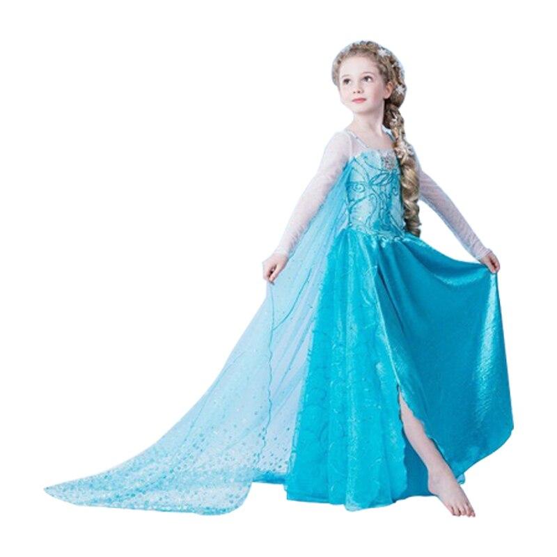 c17435ce3117b US $7.16 25% OFF|Summer Girl Fashion Elsa Anna Dress Children Clothing  Girls Princess Cinderella Party Dresses Baby Kids Clothes Vestidos-in  Dresses ...