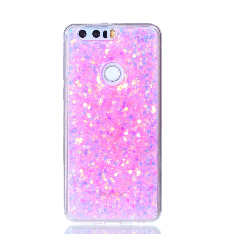 new product 63be7 b2e3f US $3.79 |Huawei Honor 8 Honor 8 Case Colored Shiny Glitter Silicone TPU  Gel Soft Back Cover Phone Case for Huawei Honor 8 Honor8 5.2