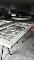 Szanghaj Chiny fabryka produkcji kute Żelazne drzwi wysokiej jakości eksport do USA, model hench-ad31