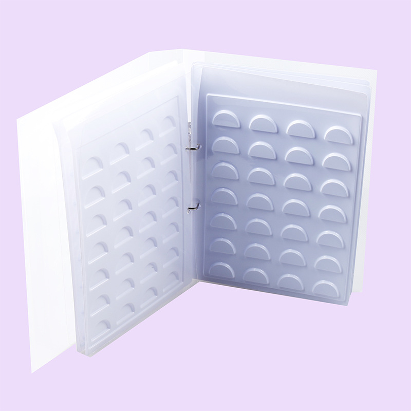 70pairs White Eyelash Storage Book Makeup Display Container Eyelashes Sample Catalog Grafting Eyelash Eyelashes Display Card
