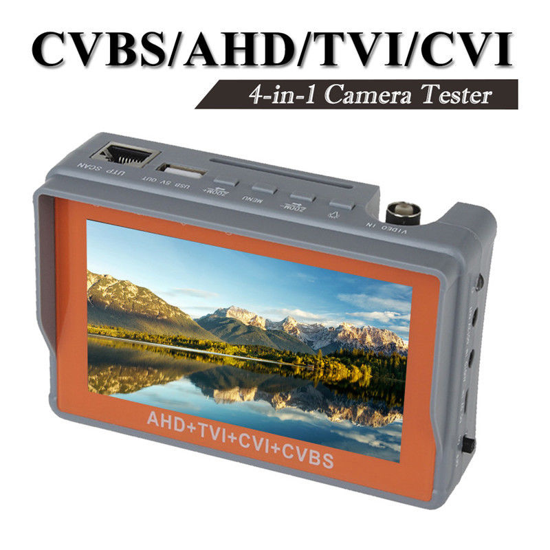Free shipping!4 in 1 Wrist 4.3 CVBS/AHD/TVI/CVI CCTV Camera Test Display Monitor Tester Audio 4 in 1 ir high speed dome camera ahd tvi cvi cvbs 1080p output ir night vision 150m ptz dome camera with wiper