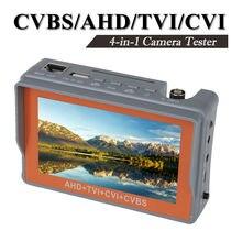 Livraison gratuite! 4 dans 1 Poignet 4.3 «CVBS/AHD/TVI/CVI CCTV Caméra Test Affichage moniteur Testeur Audio