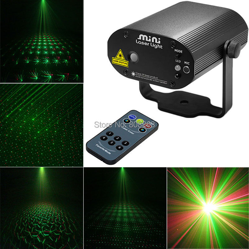 New Model  IR Remote Mini projector adjustable Green Red Laser Stage lighting Disco Home Xmas Dance Party DJ Light Show d35 mon hot sale projector dj disco light mp3 remote stage party christmas laser lighting show