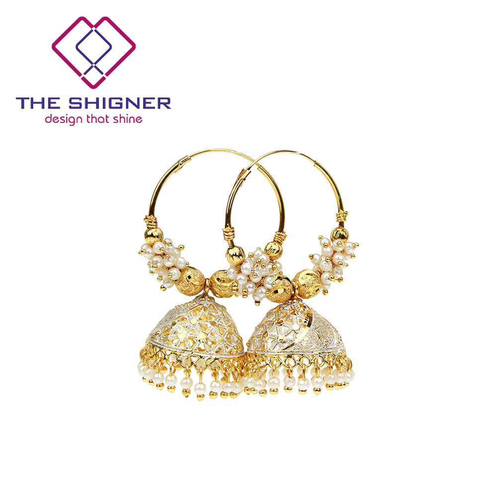 Coloré Bali Boucles Shigner Or The Jhumka Perles D'oreilles Style Boucle Acheter Bollywood D'oreille Traditionnel Anneau Indien Jhumki Hoop y76gbf