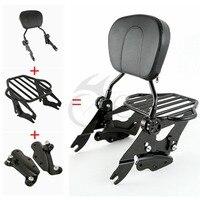 Sissy Bar Backrest Pad Rack 4 Point Docking Kit For Harley Touring Models 09 13