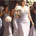 New Arrival Sequined Beaded Mermaid Bridesmaids Dresses 2017 Sparkly Cheap Plus Size Long Bridesmaid Gown Party Dress FF33