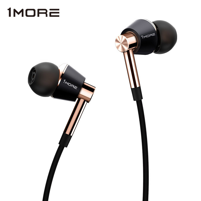 Original 1More Triple Driver In-Ear Earphone with microphone for Xiaomi Mi Redmi Samsung Mp3 Earphones Earbuds Earpiece E1001 stylish in ear earphone w microphone for samsung i9500 i9300 orange