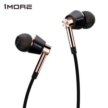 Orijinal 1 More Üçlü Sürücü Kulak Içi mikrofonlu kulaklık Xiao mi mi kırmızı mi Samsung Mp3 kulaklık Kulakiçi Kulaklık E1001