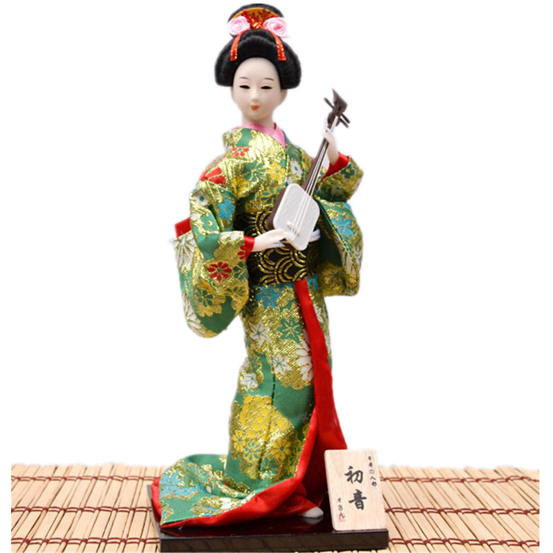 30cm vintage Japanese home Decoration geisha doll Colorful ...