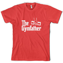 The Gymfather - Mens T-Shirt Weightlifting GymER Exercise 10 Colours Free shipping Short Sleeve Hot Tops Tshirt Homme