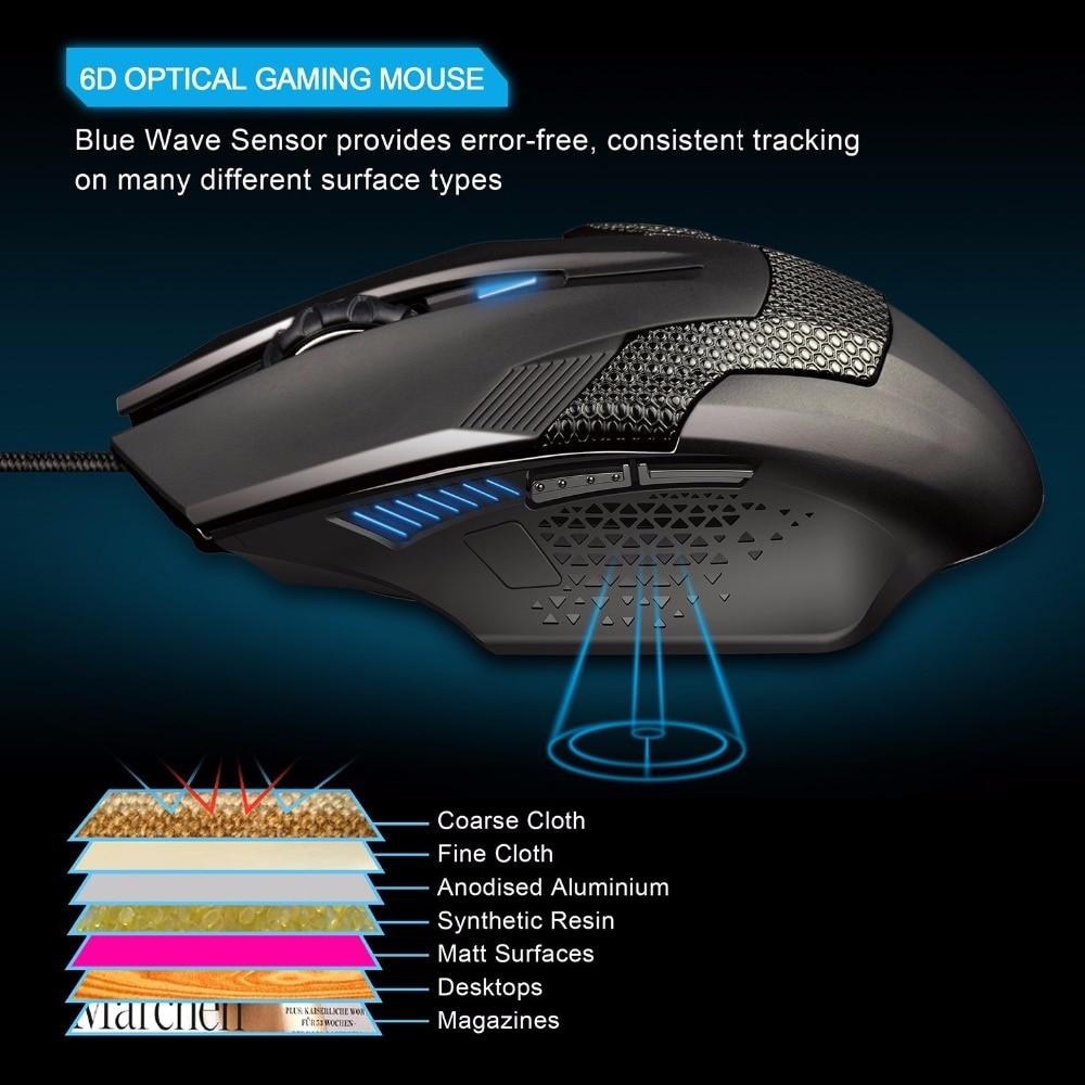 TeckNet Raptor Gaming Mouse 2000 DPI 6 gomb Extra súlyú optikai - Számítógép-perifériák - Fénykép 4