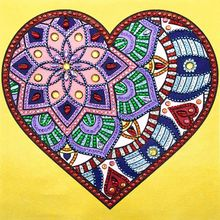 Heart 5D Special Shaped Diamond Painting Embroidery Needlework Rhinestone Crystal Cross Craft Stitch Kit DIY