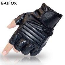 BAIFOX Тяжелая Атлетика Перчатки Тренировки Бодибилдинг Перчатки Половина Finger Фитнес Антипробуксовочная Бар Захваты Силовой Тренировки Упражнение Варежки