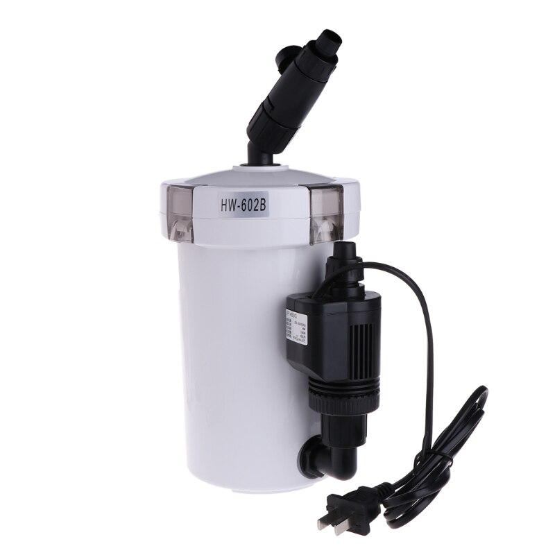 Ultra-Quiet External Filter Bucket HW-602/HW-602B/HW603 For Aquarium Fish Tank Aceeessories #20/17W
