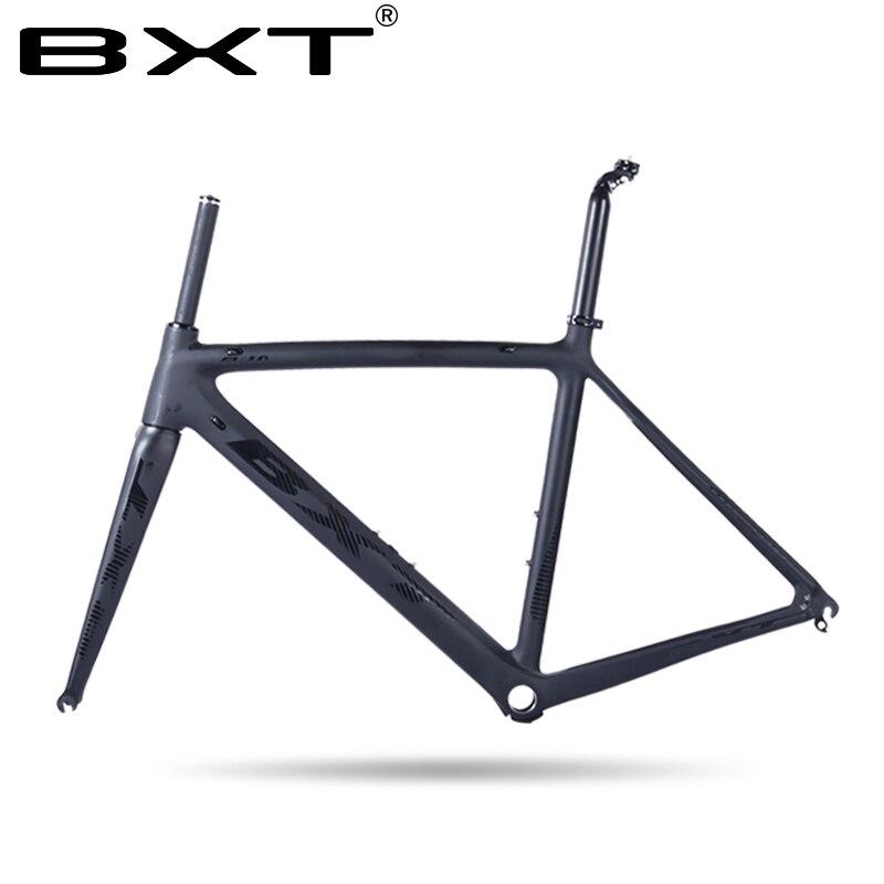 Prezzo di fabbrica telaio in carbonio road bike matte Carbon Racing Frameset Della Bicicletta ultralight 5 color 50/53/55 cm bicicleta telaio in carbonio