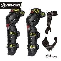 Cuirassier мотоцикл мотокросса внедорожные гоночные налокотники Защита на колено Скоба Защитные спортивная защита Броня