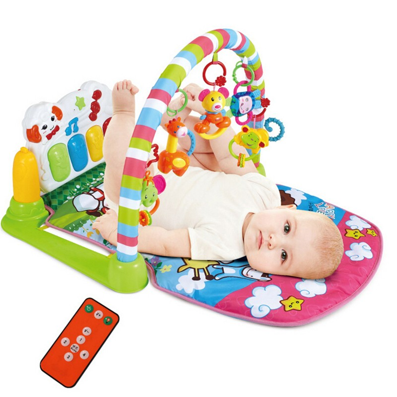 Baby Music Play Gym Mat Infant Floor Blanket Children S