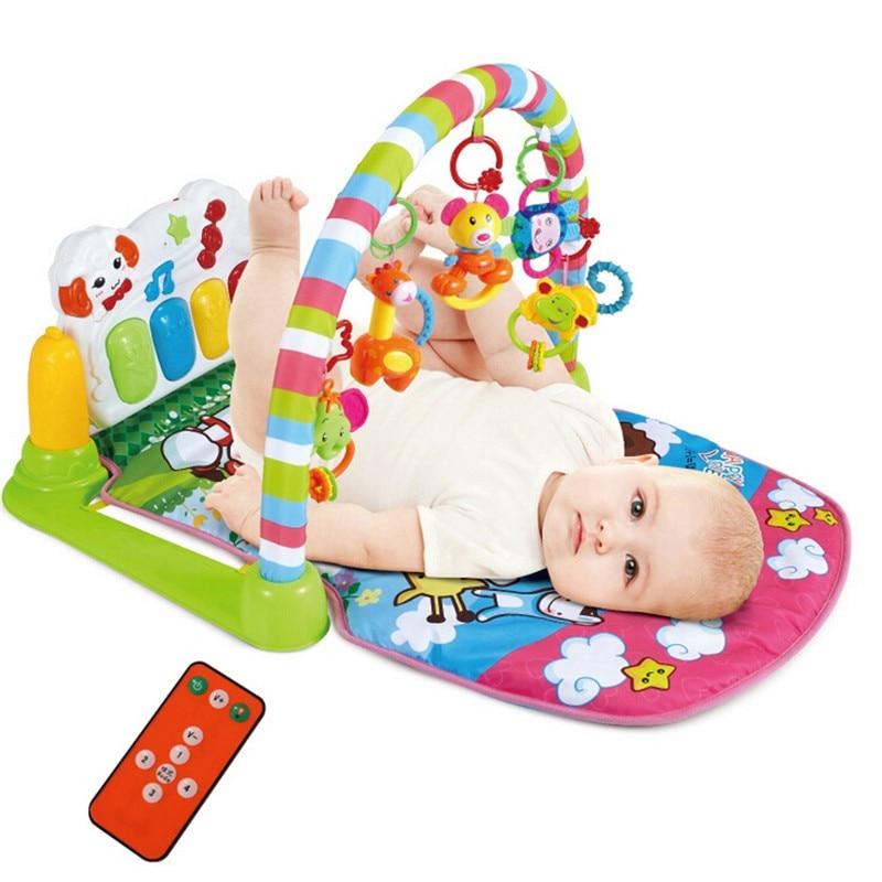 Baby Floor Toys : Baby music play gym mat infant floor blanket children s