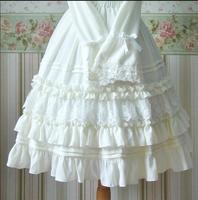Japan style sweet lolita skirt ruffled elastic lace victorian skirt kawaii girl gothic lolita sk tea party palace loli cosplay