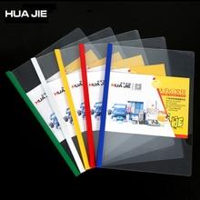 Colorful Transparent File Folder 10Pcs/Set A4 Paper Spine Bar Creative Business Report Document Storage Office Organizer HQ310A